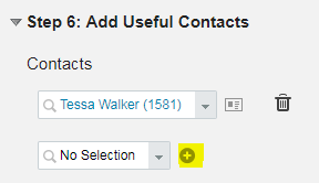 Add Useful Contacts