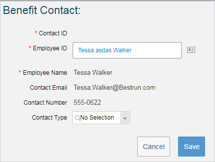 Benefit Contacts