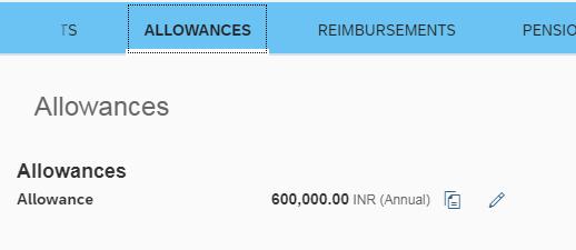 Allowance section
