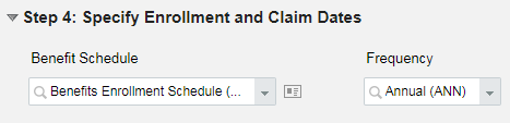 create Benefit Schedules
