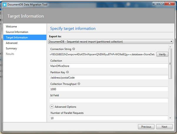 specify target information